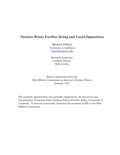 small resolution of  pdf nuclear waste facility siting and local opposition