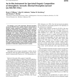 pdf an in situ instrument for speciated organic composition of atmospheric aerosols t hermal desorption a erosol g c ms fid tag  [ 850 x 1100 Pixel ]