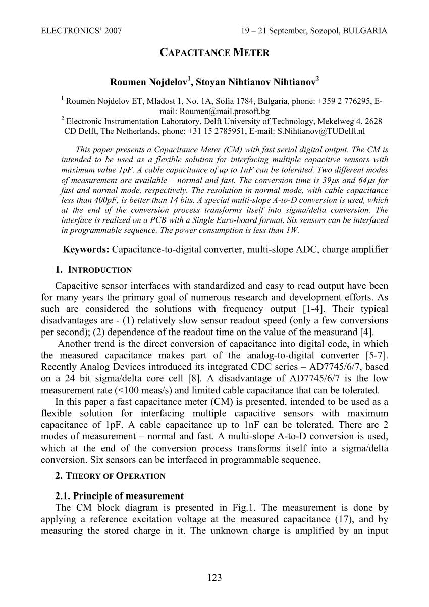 medium resolution of  pdf capacitance meter