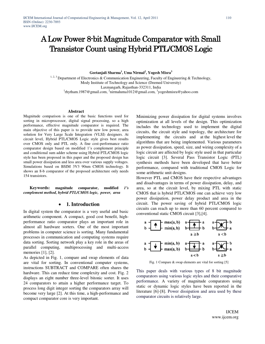 hight resolution of  pdf performance analysis of magnitude comparator using different design techniques