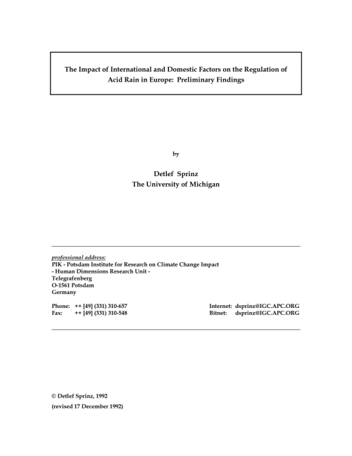 small resolution of  pdf why countries support international environmental agreements the regulation of acid rain in europe