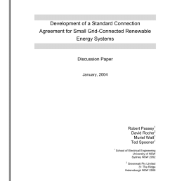 pdf development of a standard connection agreement for small grid connected renewable energy systems [ 850 x 1203 Pixel ]