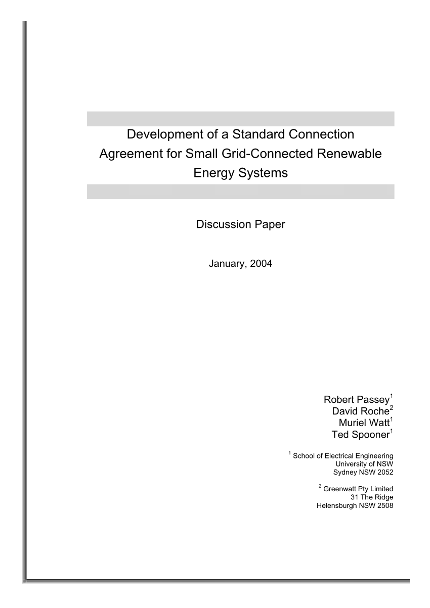 hight resolution of  pdf development of a standard connection agreement for small grid connected renewable energy systems