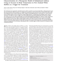 pdf characterization of a therapeutic model of inhalational anthrax using an increase in body temperature in new zealand white rabbits as a trigger for  [ 850 x 1138 Pixel ]