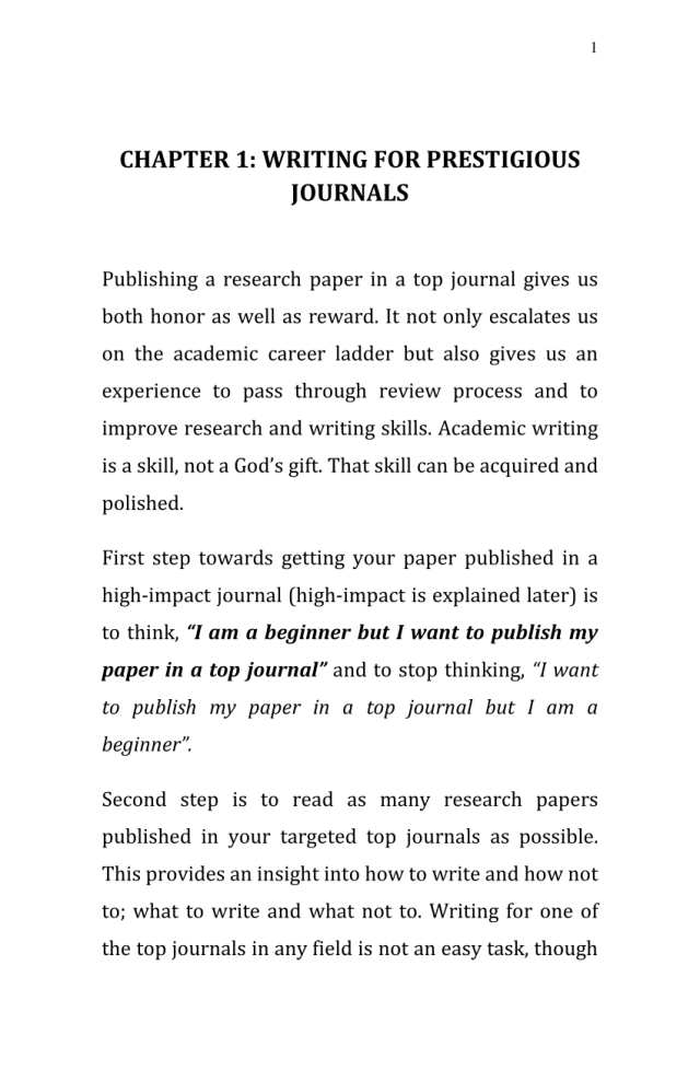 PDF) Publishing in High-impact Management Journals