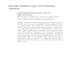 pdf design and synthesis of reversible arithmetic and logic unit alu  [ 850 x 1203 Pixel ]
