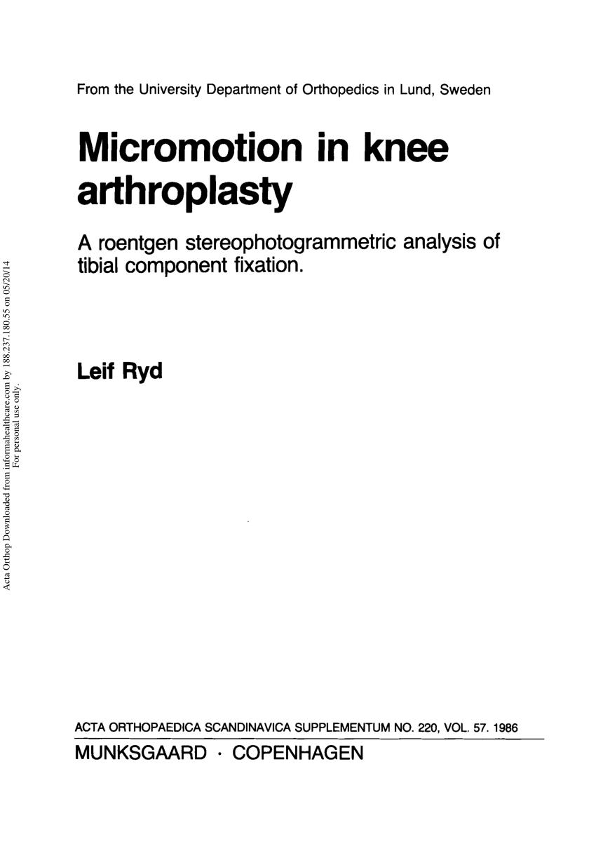 Zimmer Nexgen Knee Design Rationale