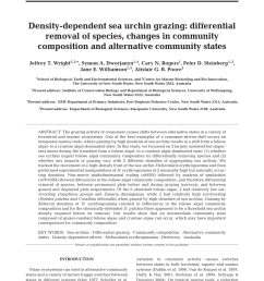 pdf density dependent sea urchin grazing differential removal of species changes in community composition and alternative community states [ 850 x 1122 Pixel ]