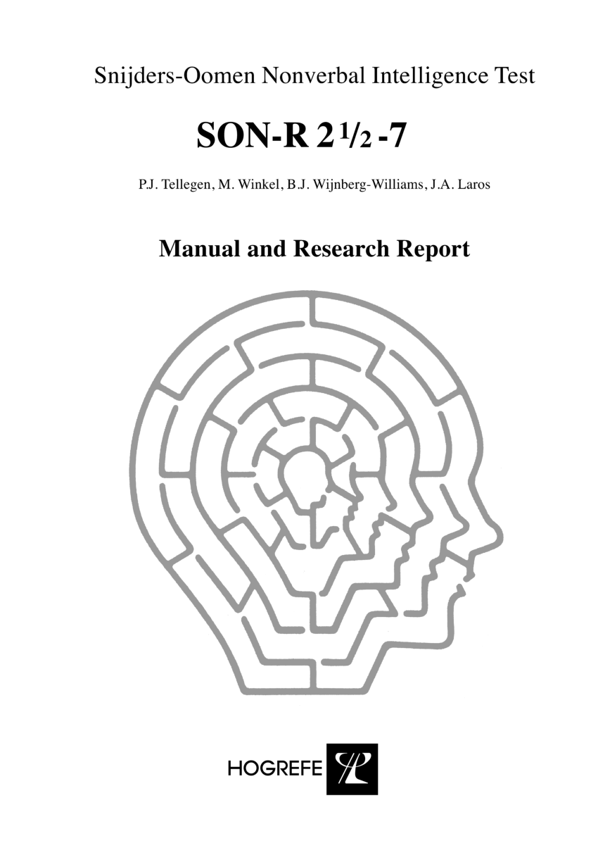 (PDF) Snijders-Oomen Nonverbal Intelligence Test SONR 2,5