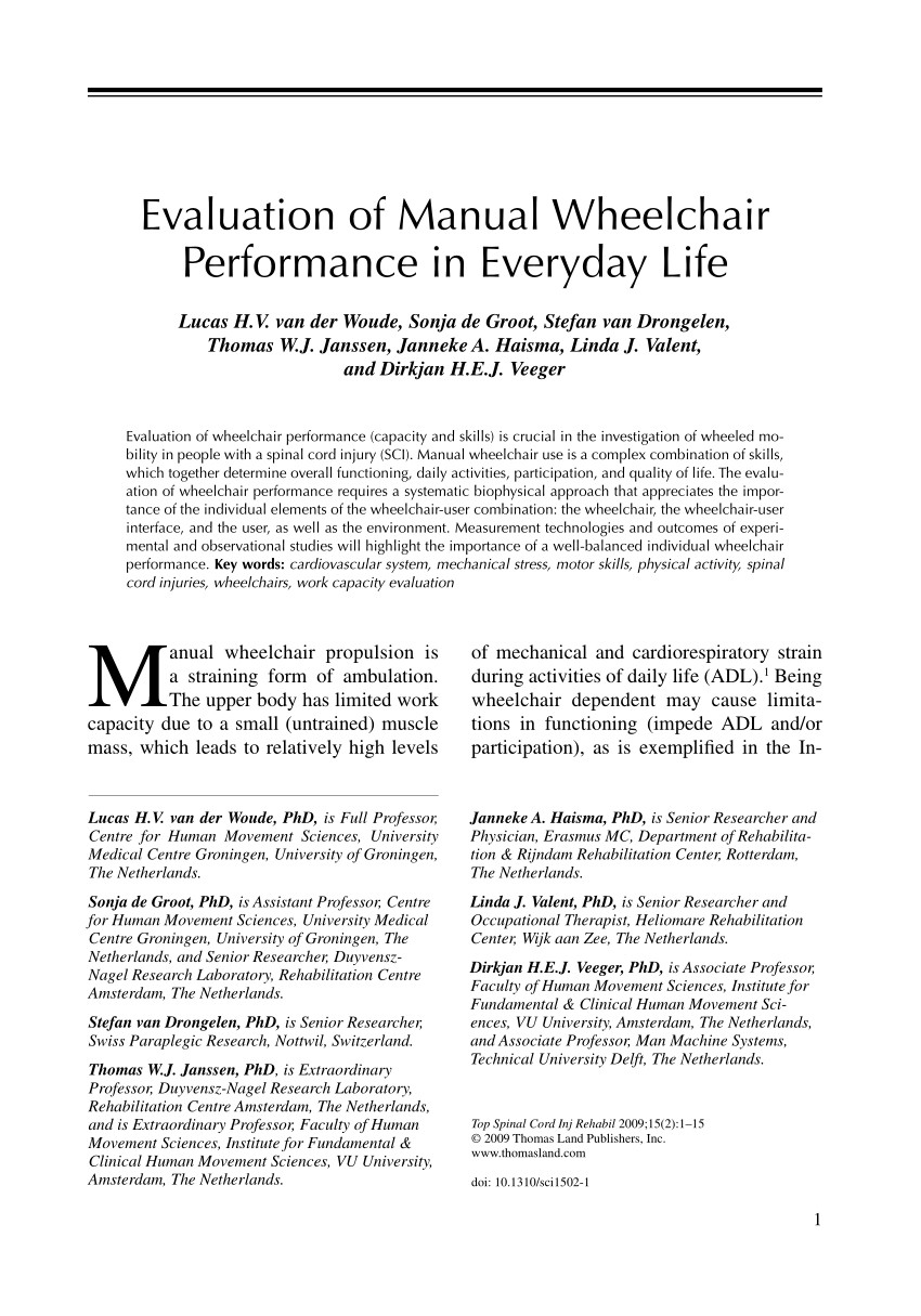 wheelchair evaluation murah pdf of manual performance in everyday life