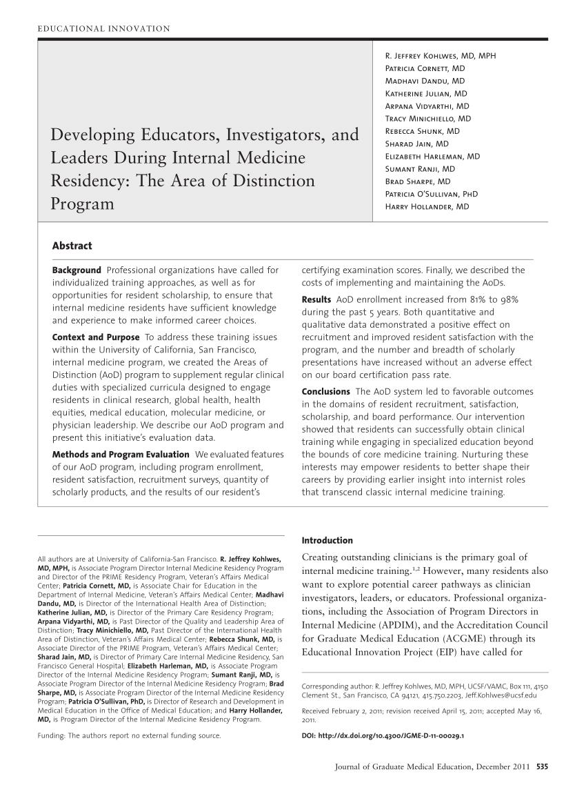 (PDF) Developing Educators, Investigators, and Leaders