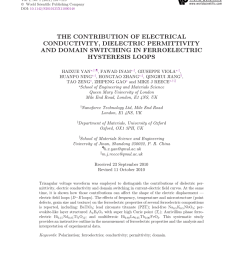 pdf effects of ca substitution on structural dielectric and ferroelectric properties of ba5smti3nb7o30 tungsten bronze ceramics [ 850 x 1108 Pixel ]