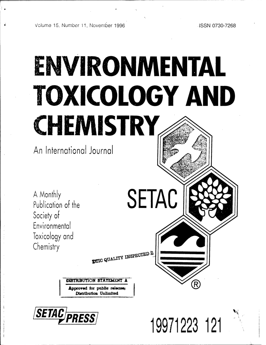 (PDF) Environmental Toxicology and Chemistry. An