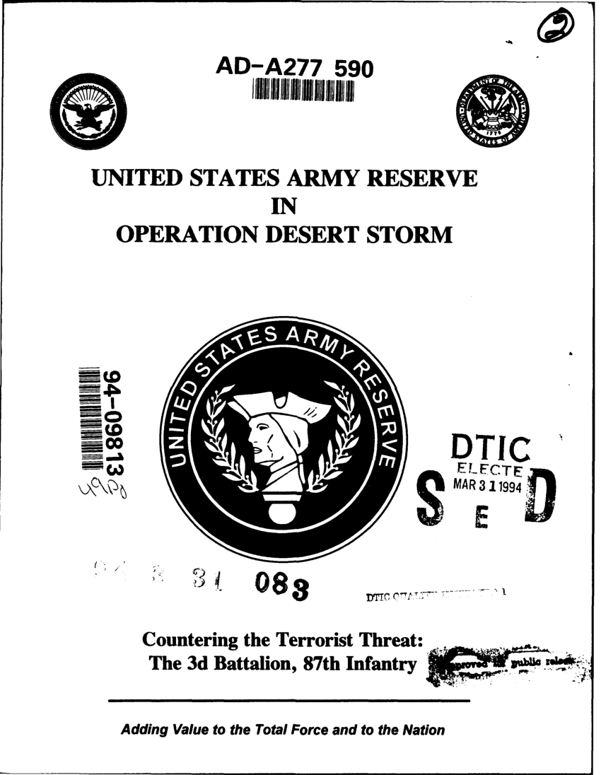 (PDF) United States Army Reserve in Operation Desert Storm