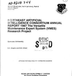 pdf northeast artificial intelligence consortium annual report 1987 volume 2 part a the versatile maintenance expert system vmes research project [ 850 x 1097 Pixel ]
