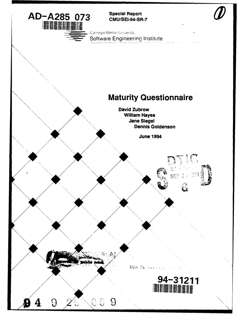 (PDF) Maturity Questionnaire