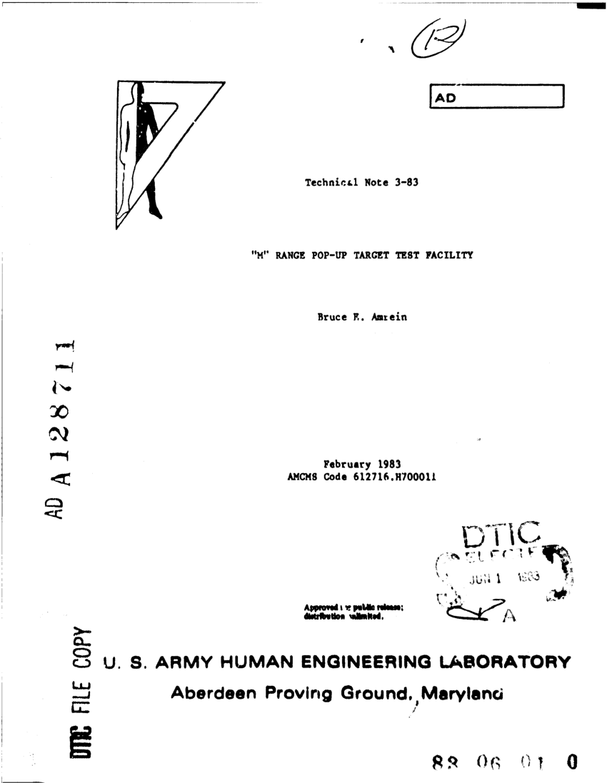 (PDF) 'M' Range Pop-Up Target Test Facility