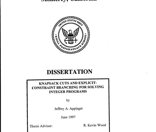 Pdf Knapsack Cuts And Explicit Constraint Branching For Solving Integer Programs