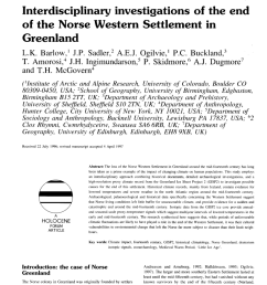 pdf interdisciplinary investigations of the end of the norse western settlement in greenland [ 850 x 1227 Pixel ]