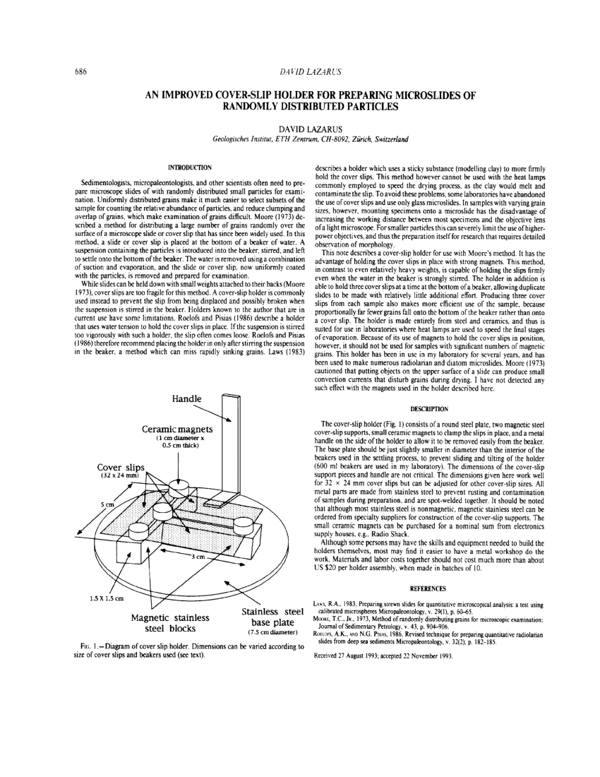 hight resolution of revised technique for preparing quantitative radiolarian slides fromrevised technique for preparing quantitative radiolarian slides from deep