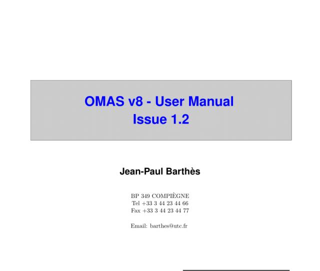 Pdf Omas V8 Documentation