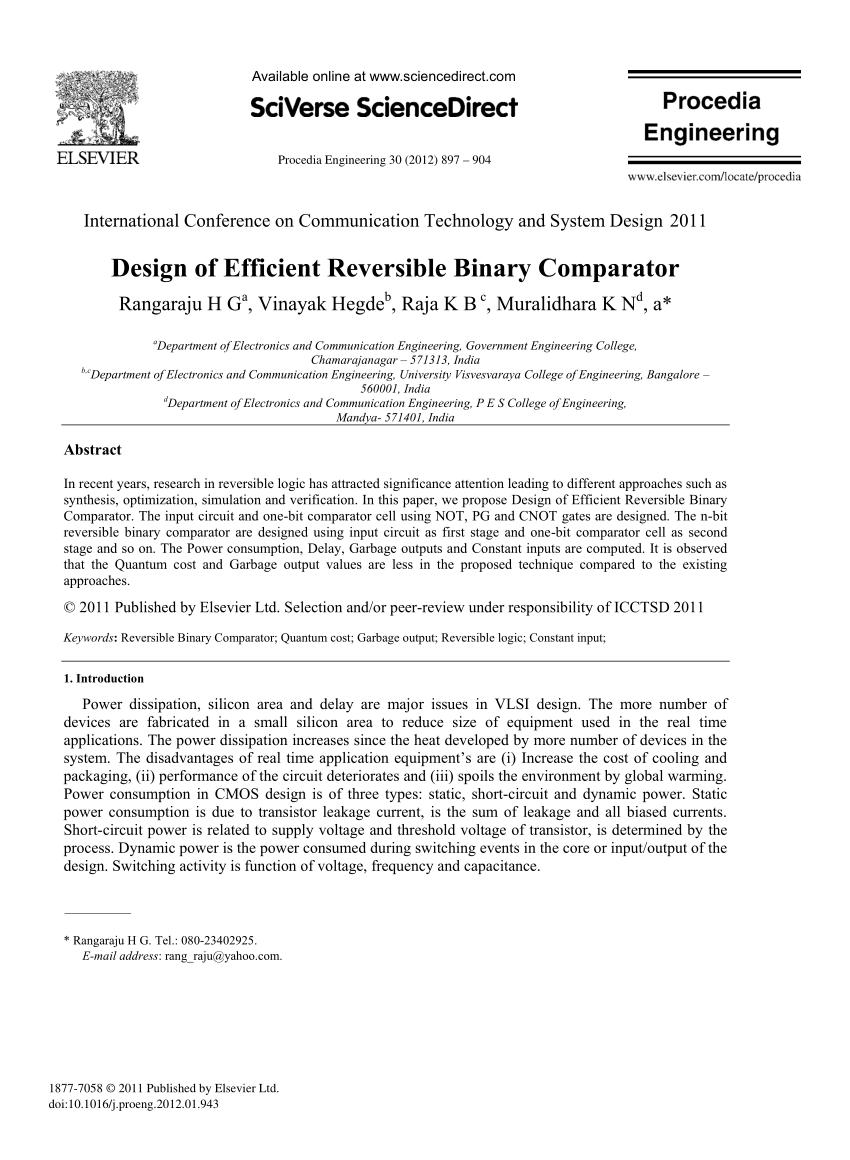 medium resolution of  pdf design of efficient reversible binary comparator