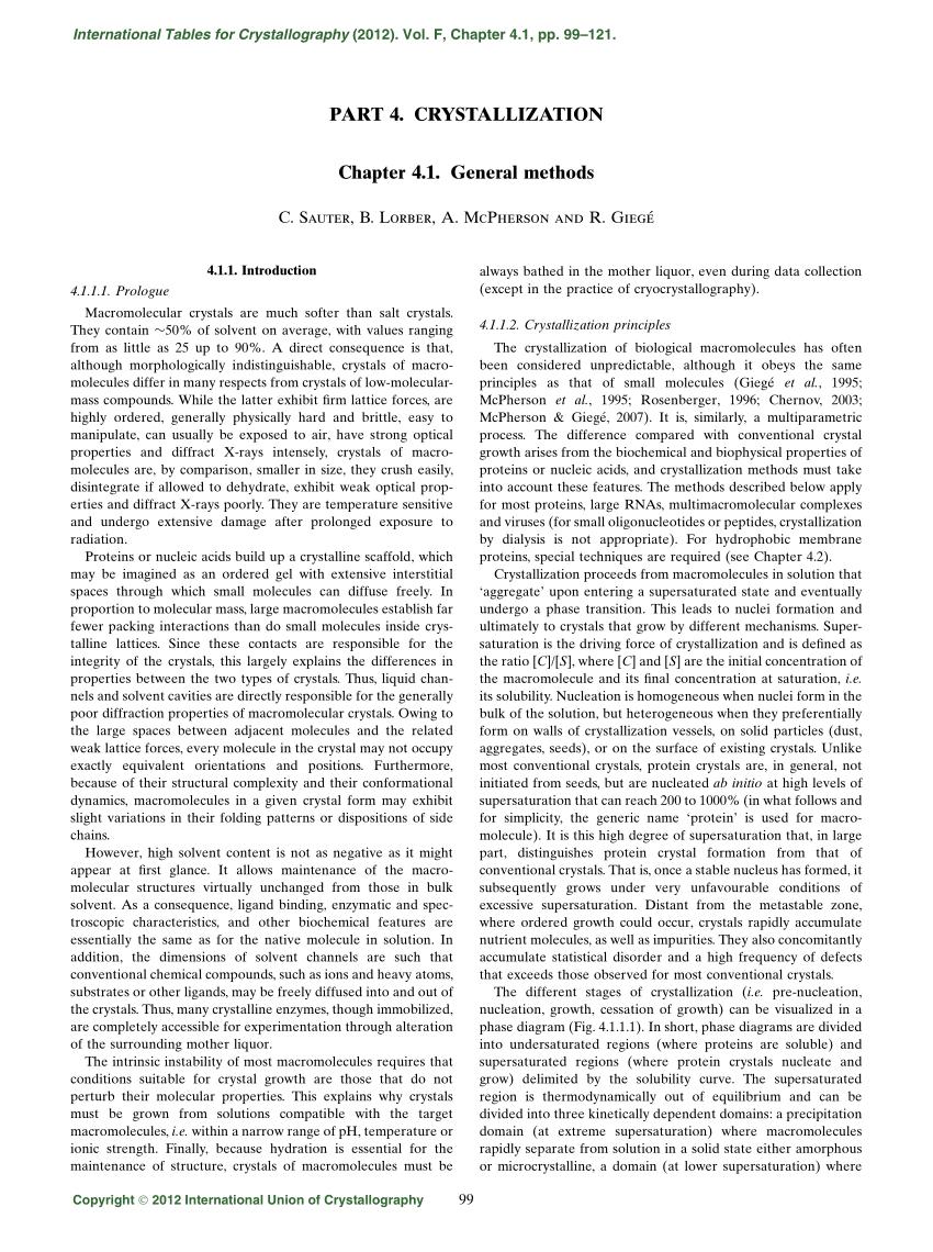 medium resolution of  pdf crystallization general methods