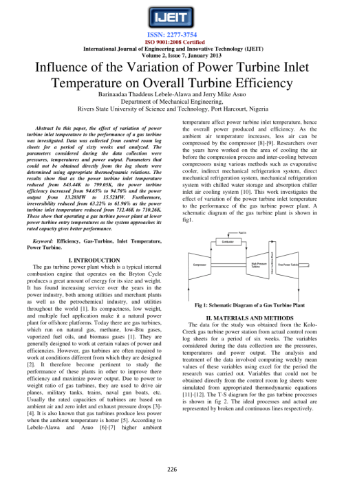 small resolution of  pdf influence of the variation of power turbine inlet temperature on overall turbine efficiency