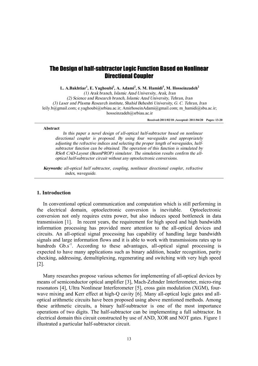 hight resolution of logic diagram for half subtractor