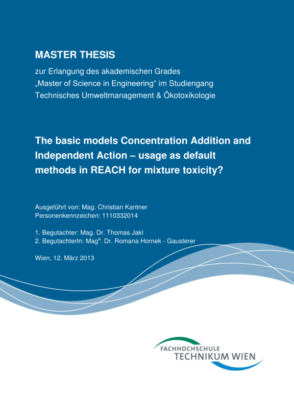 Pdf Basic Models Concentration Addition And