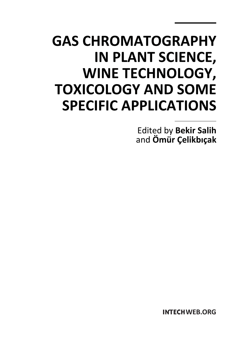 (PDF) Gas Chromatography in Plant Science, Wine Technology