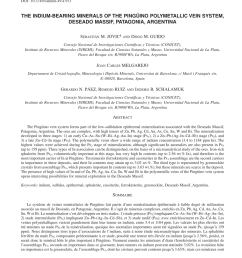 pdf indium distribution and correlations in polymetallic veins from ping ino deposit deseado massif patagonia argentina [ 850 x 1165 Pixel ]