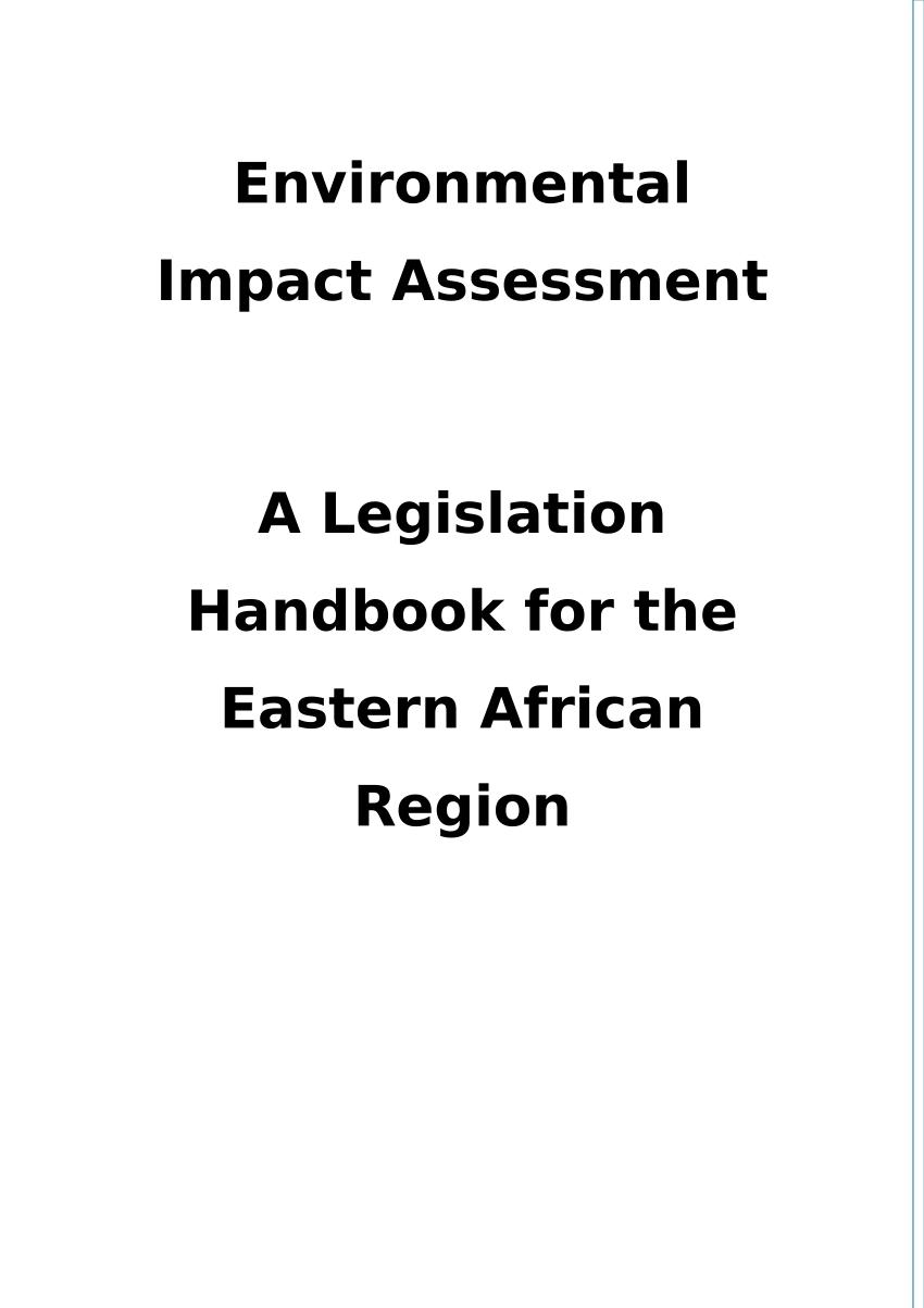 (PDF) EIA legislation in Ethiopia: a chapter in an