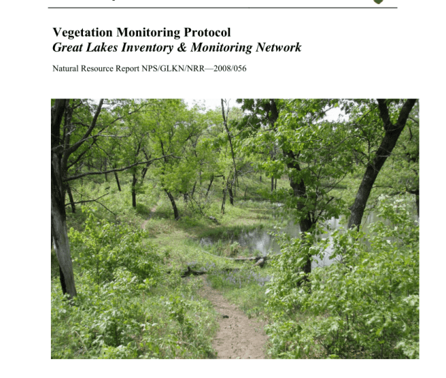 Pdf Vegetation Monitoring Protocol Great Lakes Inventory Monitoring Network