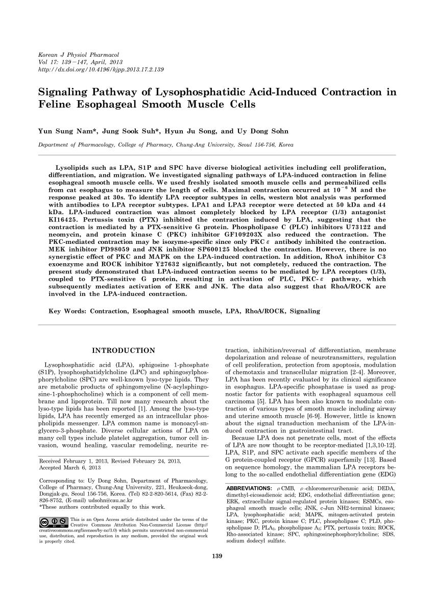 medium resolution of  pdf lysophosphatidic acid induces integrin activation in vascular smooth muscle and alters arteriolar myogenic vasoconstriction