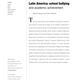 PDF) Latin America: School bullying and academic achievement [ 1178 x 850 Pixel ]