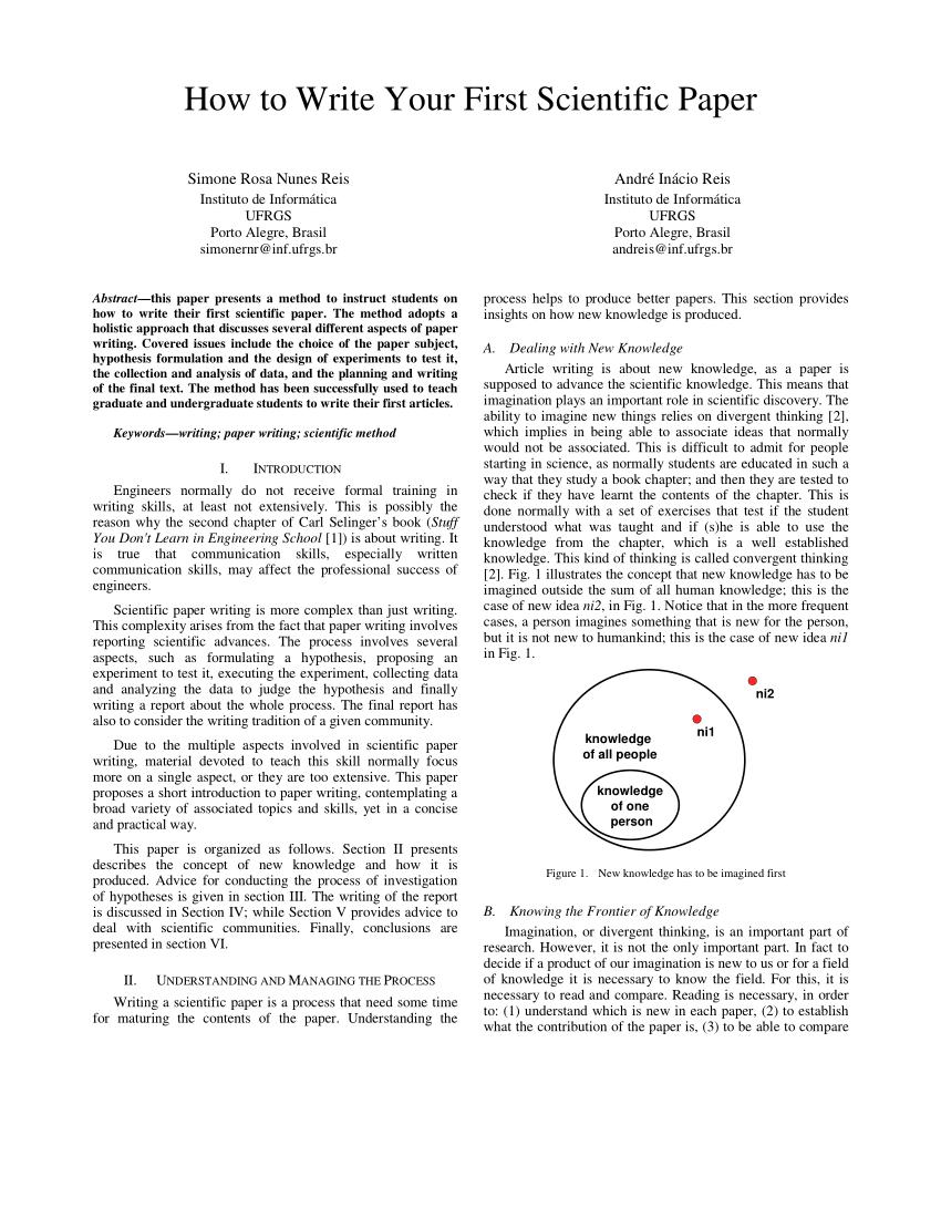 Scientific Method Paper Example : scientific, method, paper, example, Write, First, Scientific, Paper