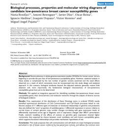 pdf biological processes properties and molecular wiring diagrams of candidate low penetrance breast cancer susceptibility genes [ 850 x 1104 Pixel ]