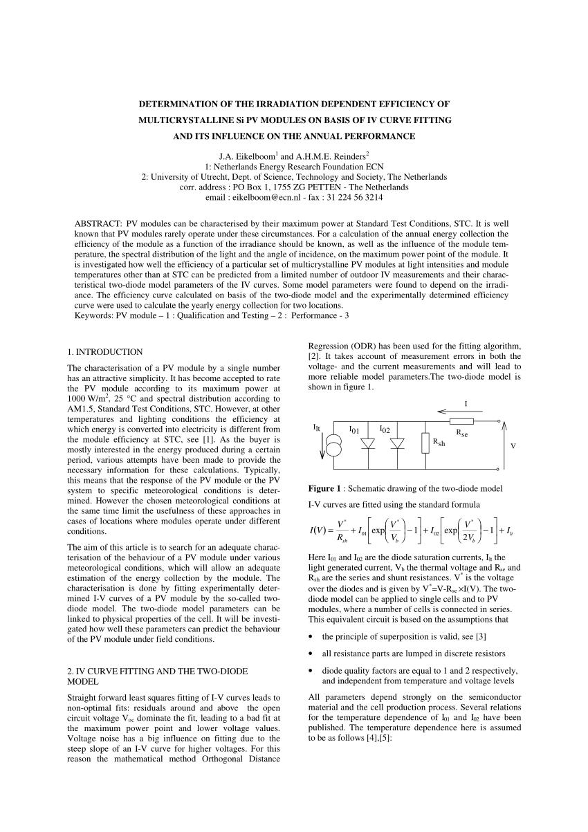medium resolution of  pdf effect of illumination intensity on solar cells parameters