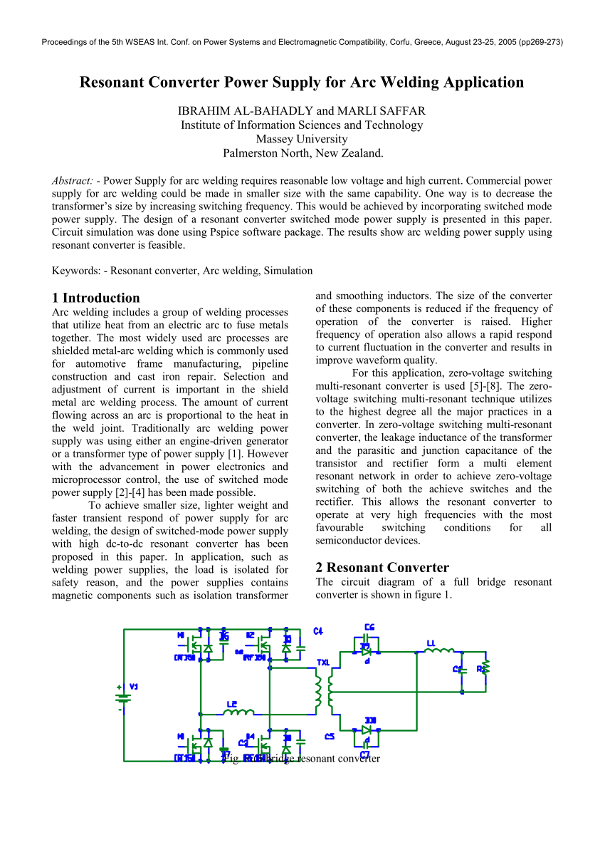 hight resolution of  pdf resonant converter power supply for arc welding application