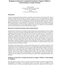 PDF) Designing an Interactive Learning Environment to Support Children's  Understanding in Complex Domains [ 1100 x 850 Pixel ]