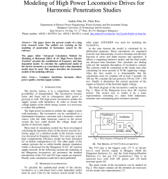 pdf modeling of high power locomotive drives for harmonic penetration studies [ 850 x 1100 Pixel ]