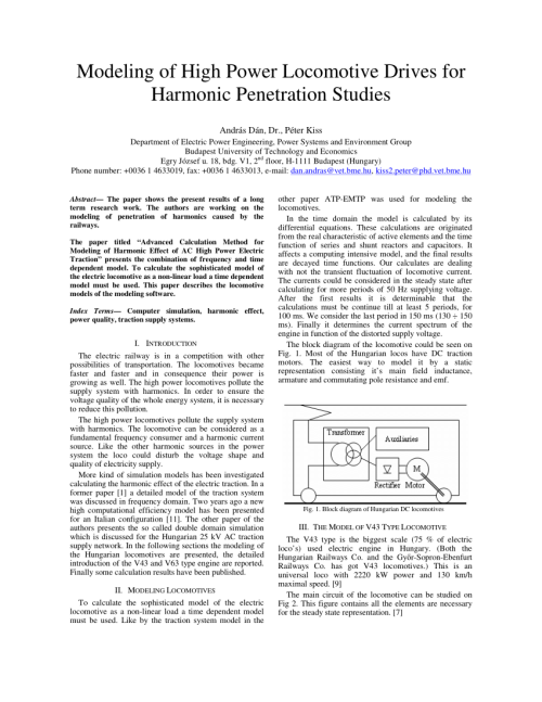 small resolution of  pdf modeling of high power locomotive drives for harmonic penetration studies