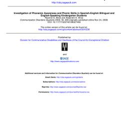PDF) Investigation of Phonemic Awareness and Phonic Skills in  Spanish-English Bilingual and English-Speaking Kindergarten Students [ 1100 x 850 Pixel ]