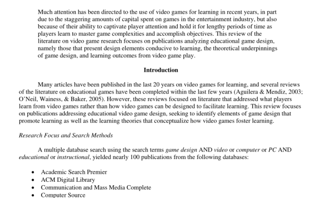 Pdf Educational Video Game Design A Review Of The