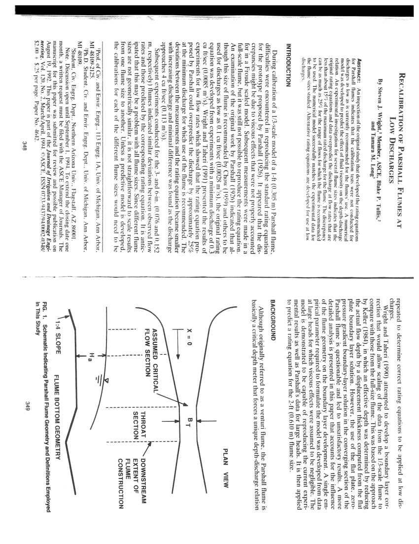 hight resolution of  pdf trapezoidal flume calibrations and development of correction algorithms for parshall flumes in a computer program