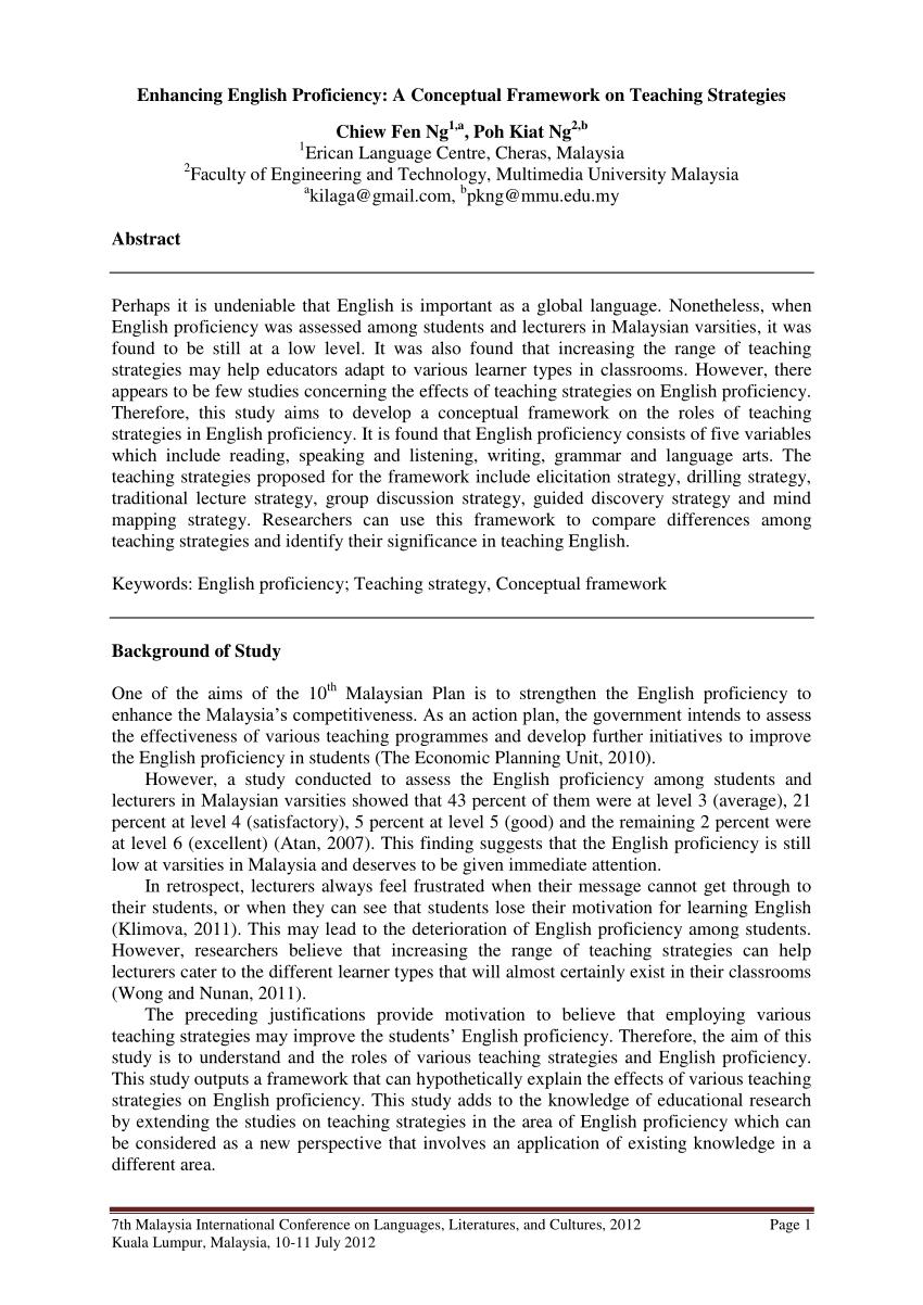 PDF Enhancing English Proficiency A Conceptual