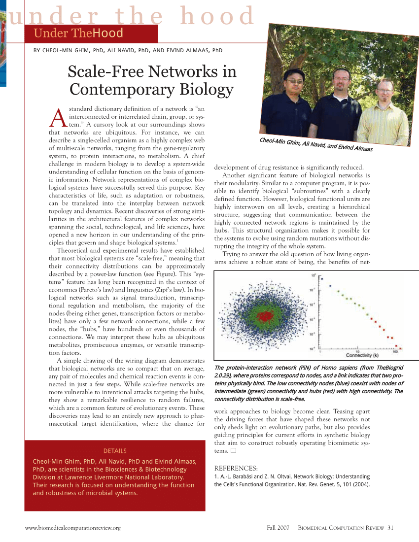 hight resolution of  pdf scale free networks in contemporary biology under the hood