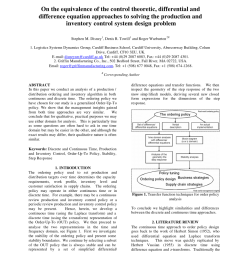 pdf on the equivalence of the control theoretic differential and difference equation approaches to solving the production and inventory control system  [ 850 x 1201 Pixel ]