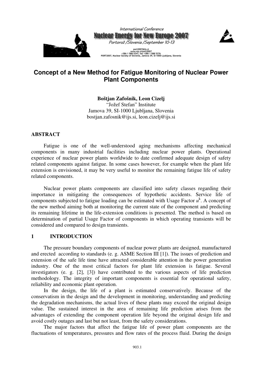 hight resolution of  pdf concept of a new method for fatigue monitoring of nuclear power plant components